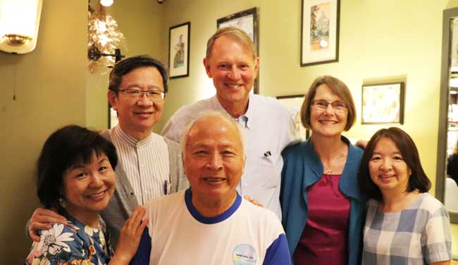 Ross and Christine with some church leaders in Taiwan