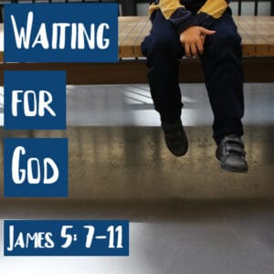 child sitting on bench waiting