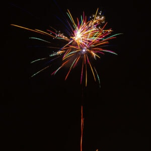 new year firework colourful explosion