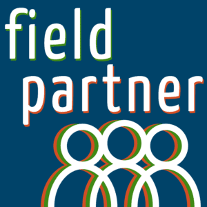 field partner podcast cover art logo text