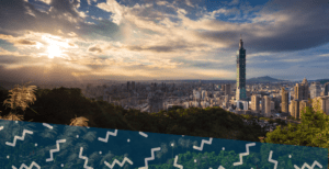 view of Taipei, Taiwan from a hill
