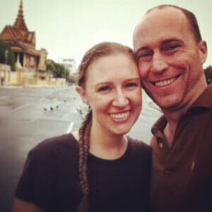 Jonathan and Elizabeth Trotter in Cambodia